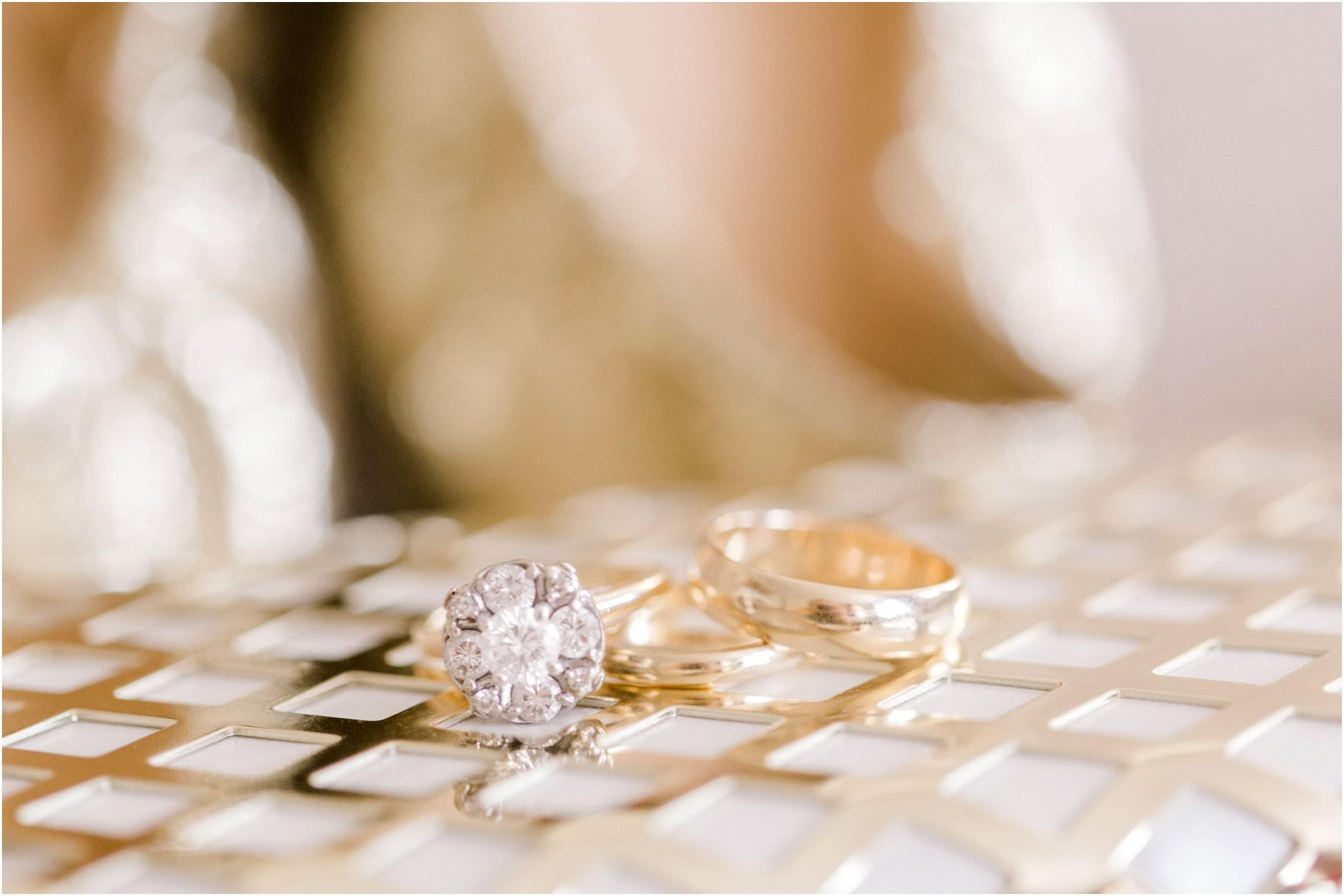 nautical squantum association wedding vintage rings