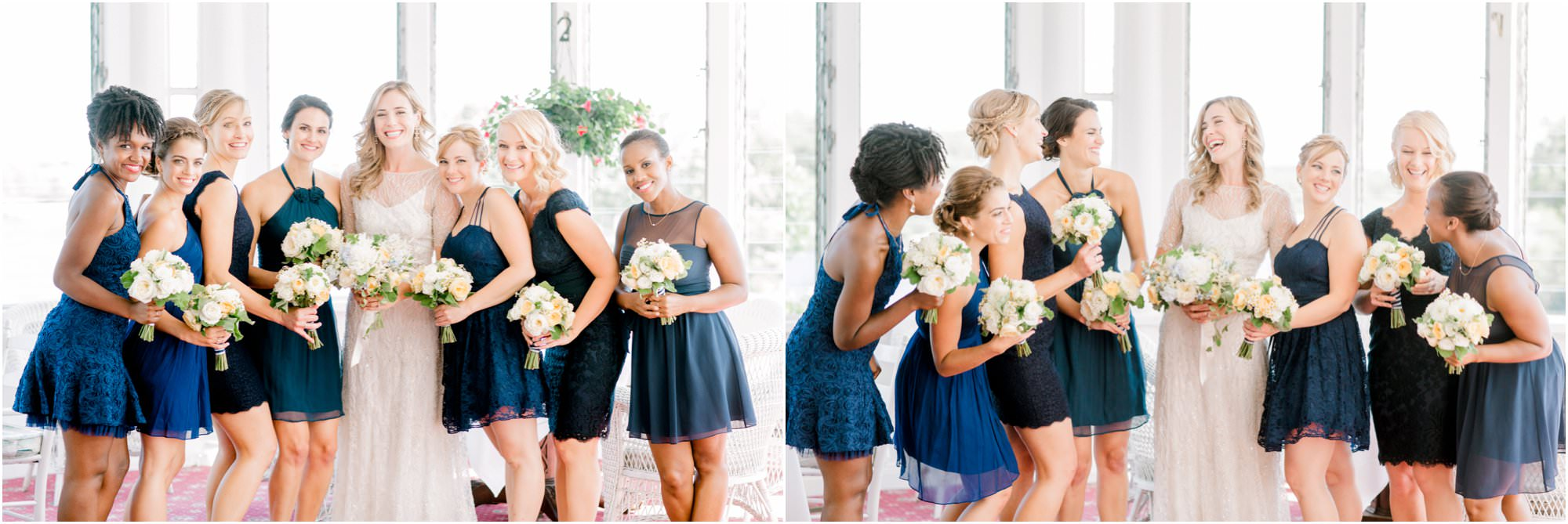 nautical squantum association wedding navy bridesmaids