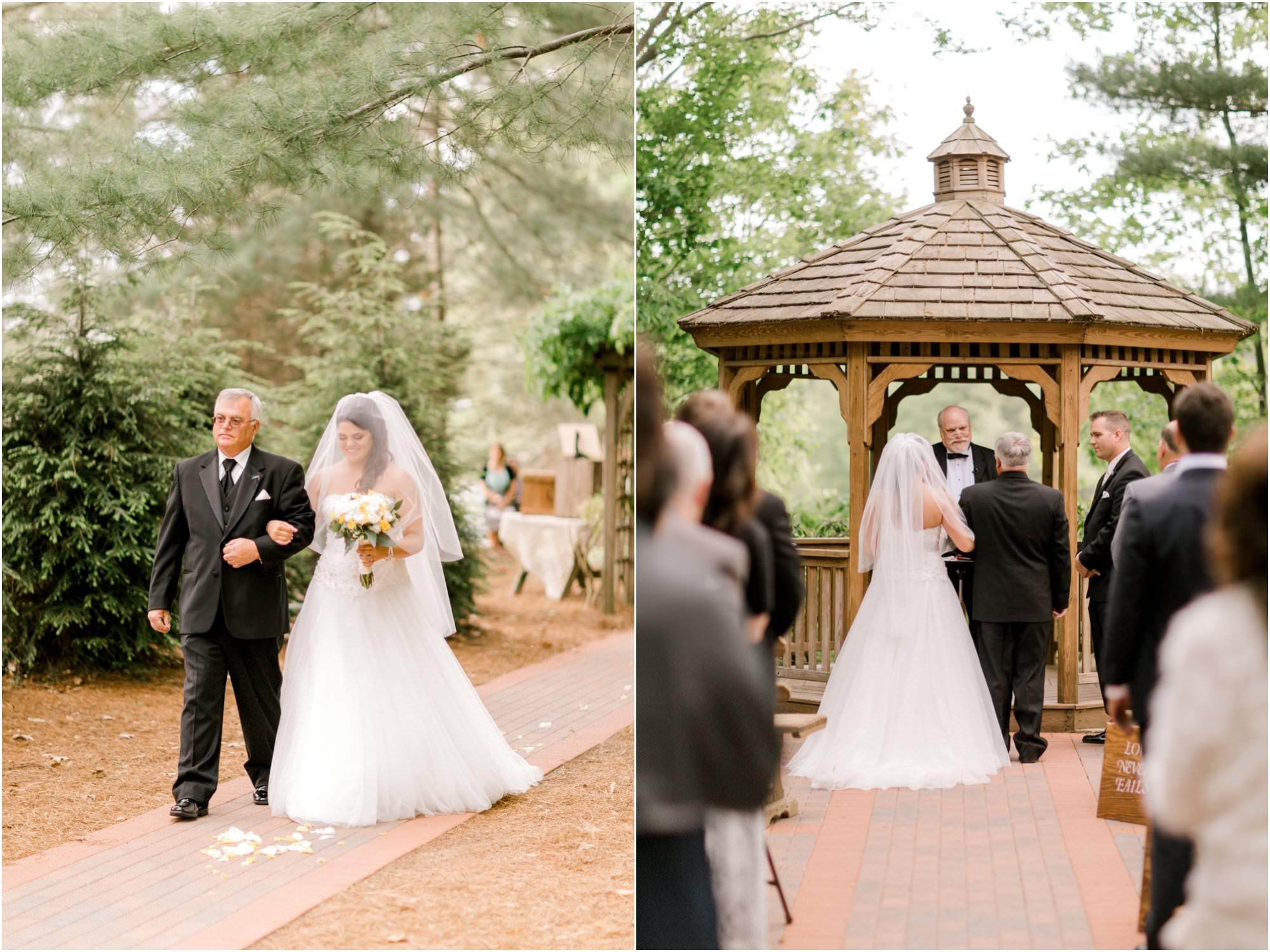 rustic pavilion on crystal lake wedding