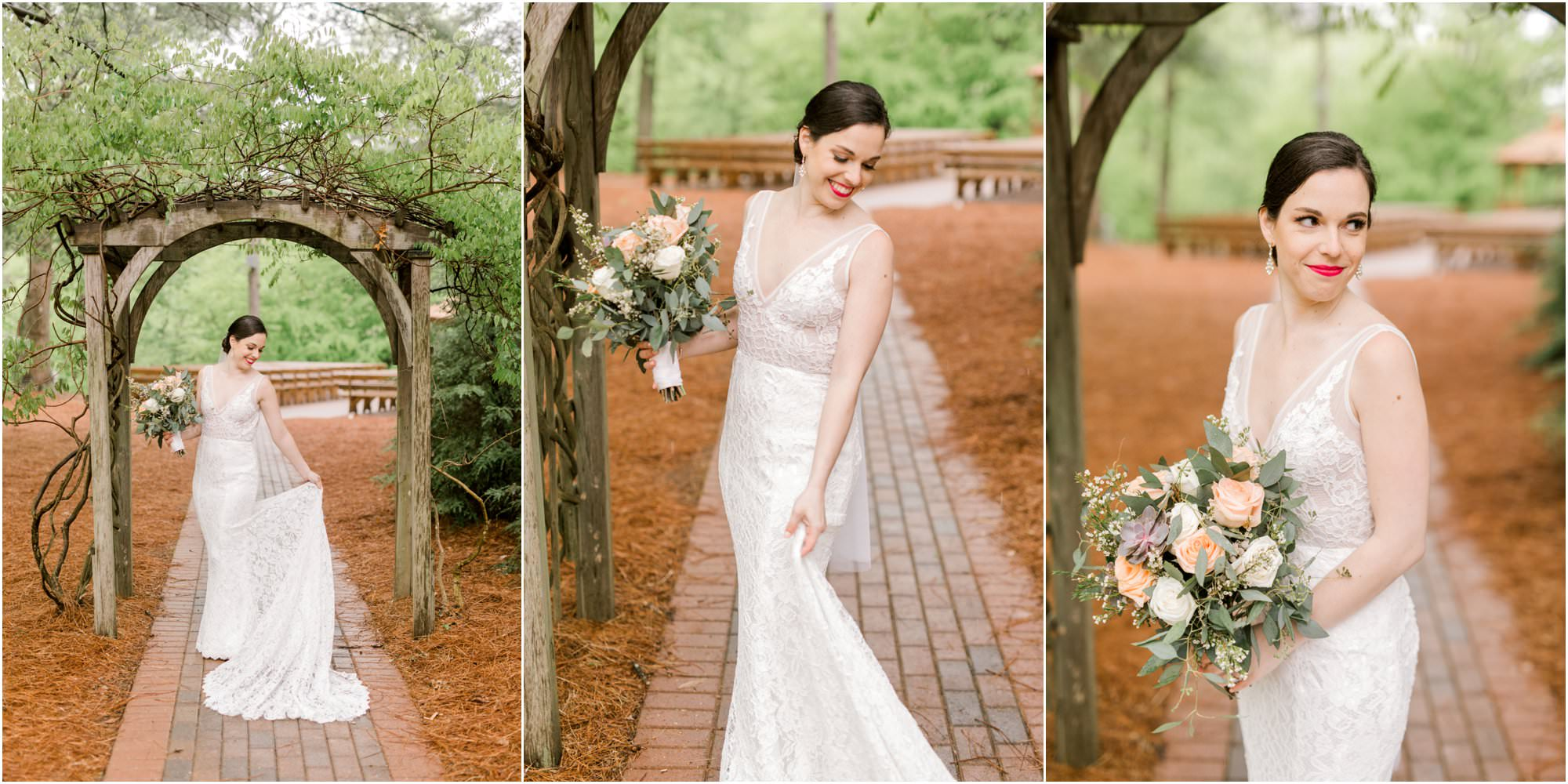 spring pavilion on crystal lake wedding
