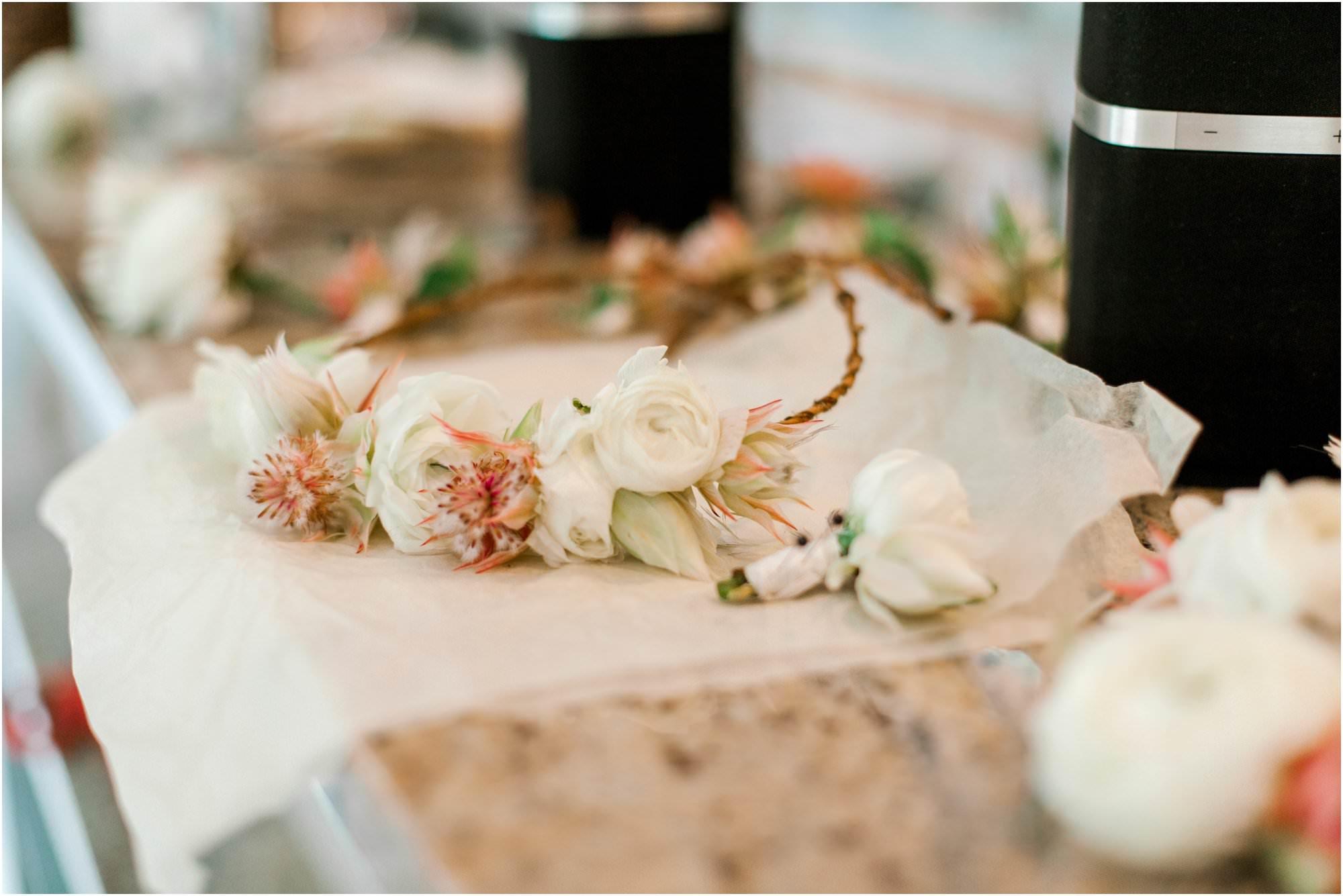 vintage summer lace factory wedding flower crown