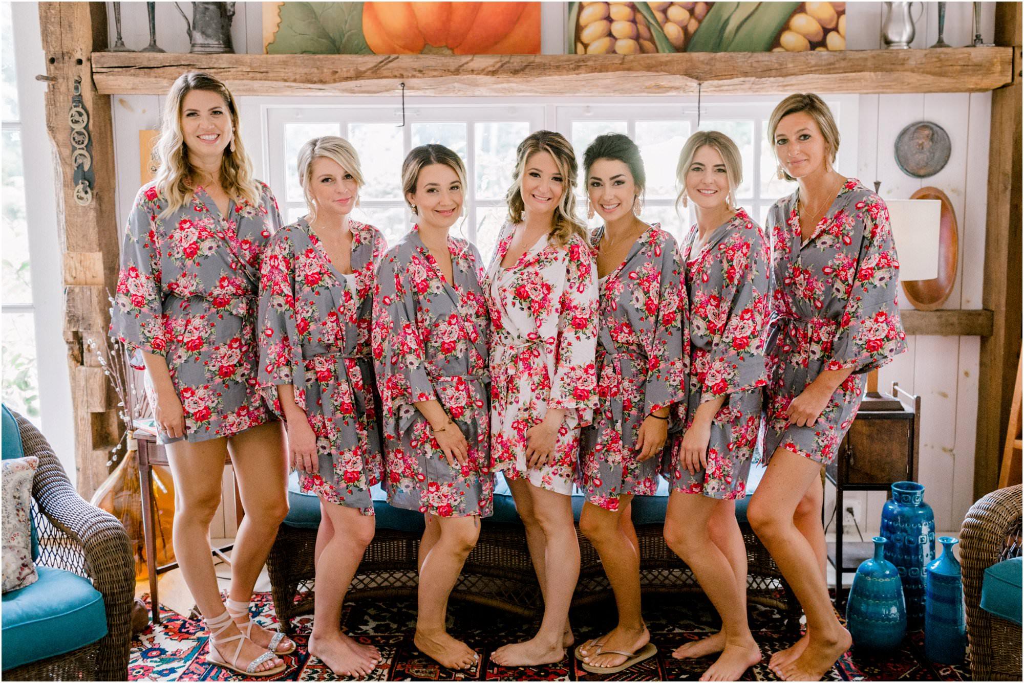 vintage summer lace factory wedding bridesmaid robes