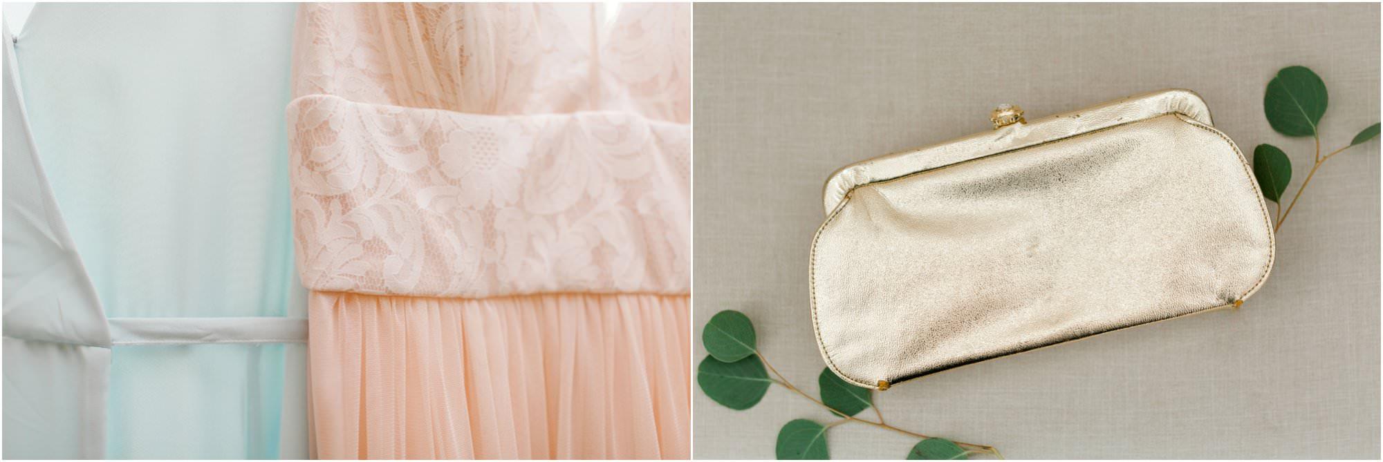 vintage summer lace factory wedding mismatched bridesmaids