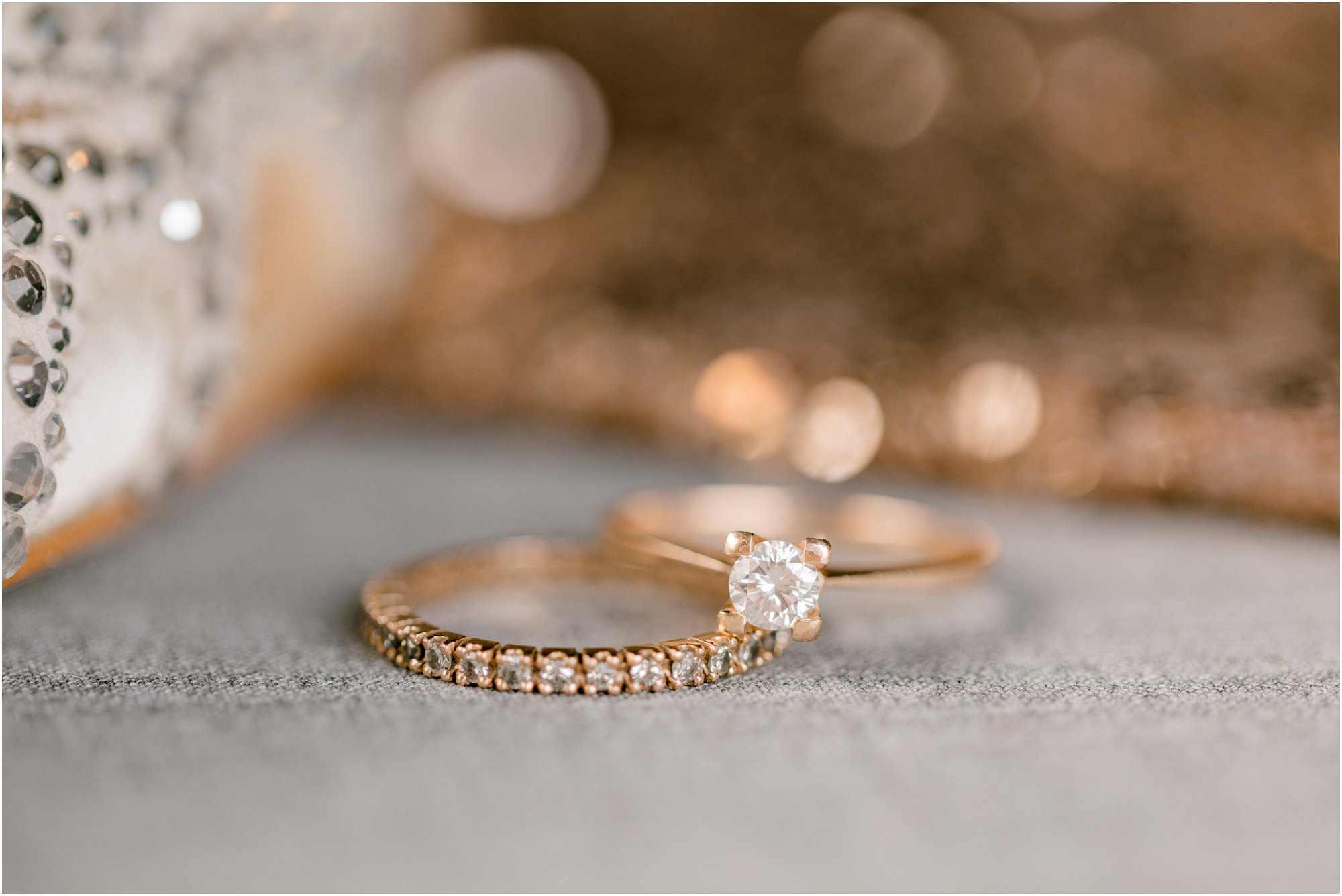 sparkly 26 bridge wedding rose gold wedding rings