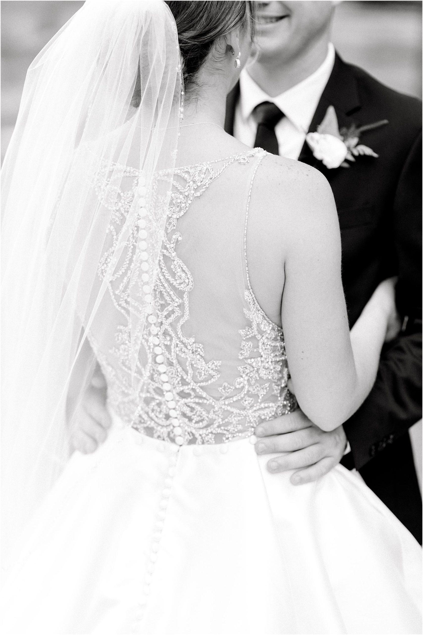 Justin Alexander wedding dress details