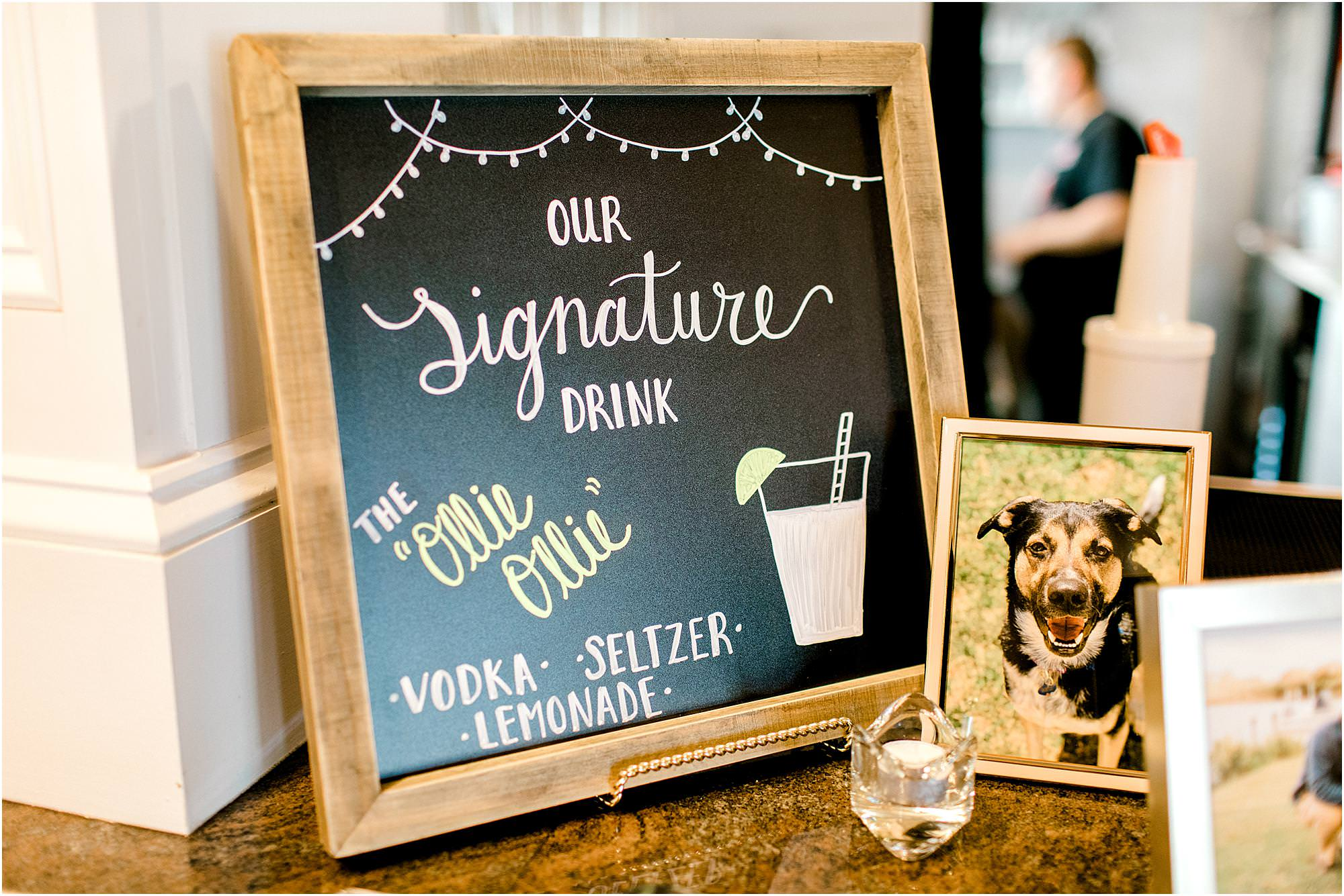 signature drink wedding sign